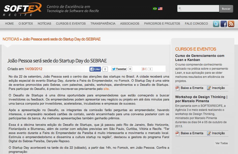 Rafael Carvalho n Portal Softex Refice